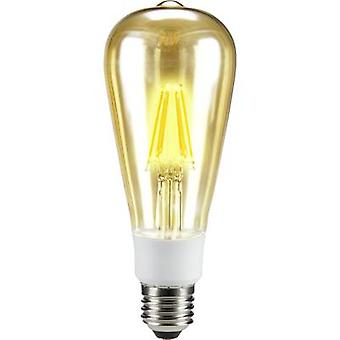 Sygonix LED E27 Bulged 7 W = 60 W Warm white (Ø x L) 64 mm x 164 mm EEC: A++ Filament, dimmable 1 pc(s)