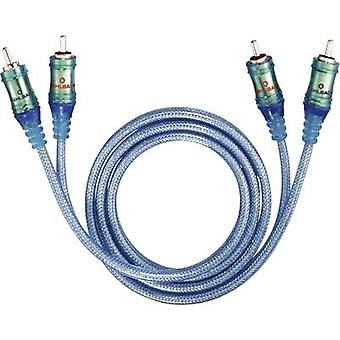 Oehlbach RCA Audio/phono Cable [2x RCA plug (phono) - 2x RCA plug (phono)] 0.50 m Transparent-blue gold plated connector