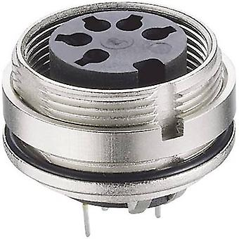 DIN connector Socket, vertical vertical Number of pins: 8 Silver Lumberg 0307 08 1 pc(s)
