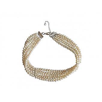 5-Strang Perlencollier 925 Silber CANDY Perlenkette Halskette Perlen
