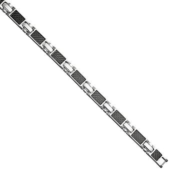 Bracelet made of stainless steel with carbon combined 20.5 cm