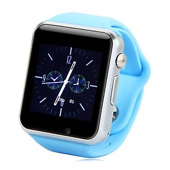 Stuff Certified ® Original A1 / W8 SmartWatch Android Smartphone Watch OLED iOS Blue
