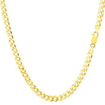 14 k Gelb Gold Komfort Kandare Kette Halskette, 3,6 mm