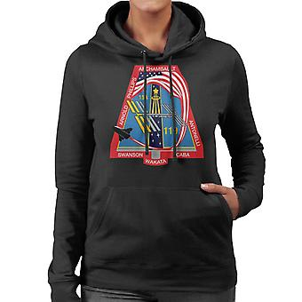 NASA STS 119 Space Shuttle Discovery Mission Patch Women's Hooded Sweatshirt