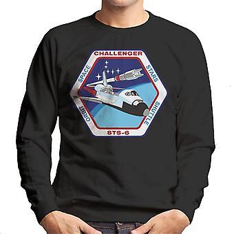 NASA STS 6 Space Shuttle Challenger Mission Patch Men's Sweatshirt