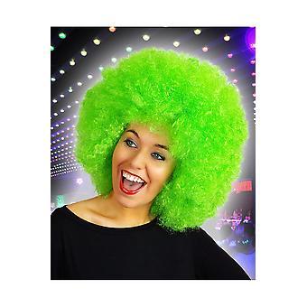 Pruiken Afro pruik helder groen