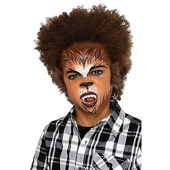 Make Up FX Kinder Gesichtsfarbe Set Werwolf Karneval Accessoire Schminke Kids Werewolf Kit