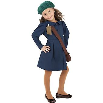 World War II Evacuee Girl Costume, Large Age 10-12