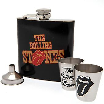 The Rolling Stones Hip Flask Set