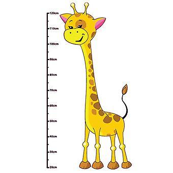 Autoadesivo della parete di colore completo giraffa sveglia altezza grafico