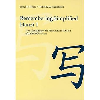 Remembering Simplified Hanzi 1 - How Not to Forget the Meaning and Wri