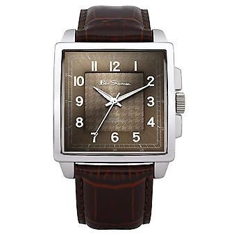 Ben Sherman Analogue Textured Brown Dial Brown Leatherette Strap Watch BS028