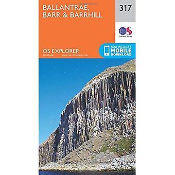 OS Explorer Map (317) Ballantrae, Barr and Barrhill