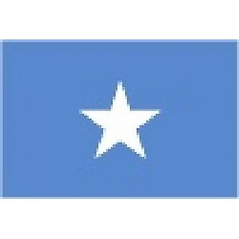 Somalia/Somalian Flag 5ft x 3ft (100% Polyester) With Eyelets