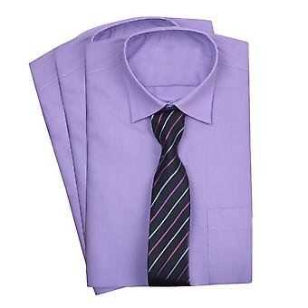 Pageboys Lilac Classic Collar Shirt with Tie