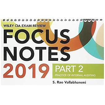 Wiley CIA Exam Review 2019� Focus Notes, Part 2: Practice of Internal Auditing (Wiley CIA Exam Review Series) (Wiley CIA Exam Review Series)