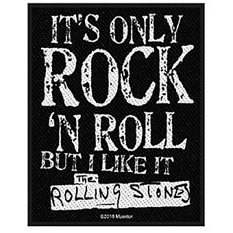 Rolling Stones It's Only Rock N Roll But.... sew-on cloth patch 100mm x 75mm  (rz)