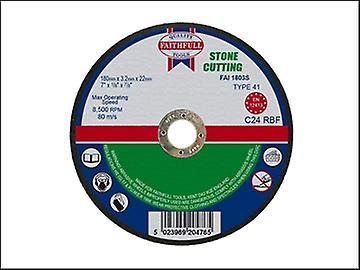 Faithfull Cut Off Disc for Stone 180 x 3.2 x 22mm