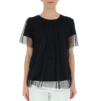 Semi-couture Black Cotton T-shirt