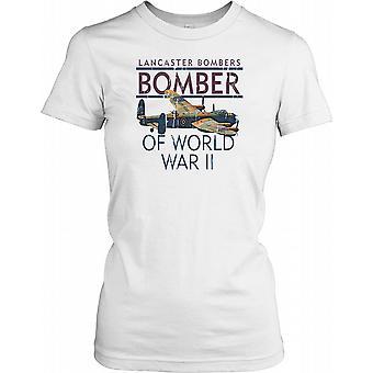 Bombardier Lancaster de la Seconde Guerre mondiale - la Royal Air Force Ladies T-shirt