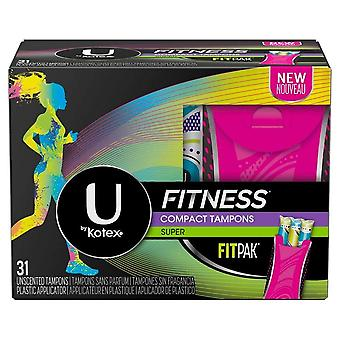 U by kotex tampons with fitpak, super absorbency, unscented, 31 ea