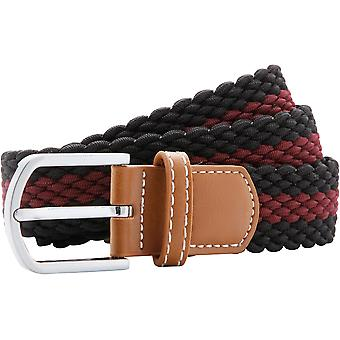 Outdoor Look Mens Two Coloured Stripe Braid Stretch Belt