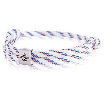 Skipper bracelet surfeur bande noeud maritime bracelet acier inoxydable blanc/bleu/rouge 7986