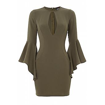 Fluted Sleeves Dress