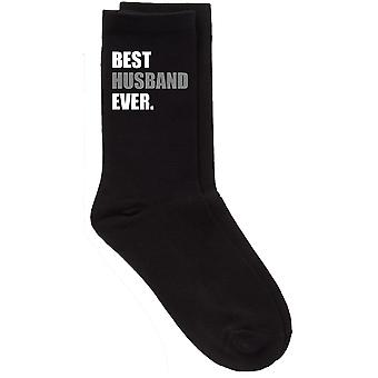 Mens Best Husband Ever V2 Black Calf Socks
