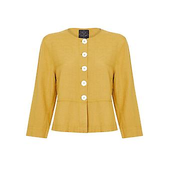 Shell Button Cropped Jacket
