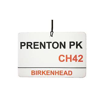 Tranmere Rovers / Prenton Park Street Sign Auto-Lufterfrischer