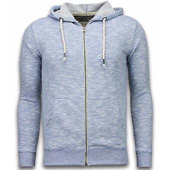 Casual Vest - Melange Zen Fleece - Blauw