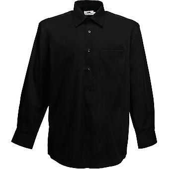 Fruit Of The Loom - Mens Poplin Long Sleeve Shirt