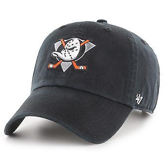 47 Marque Adjustable Cap - CLEAN UP Anaheim Ducks noir
