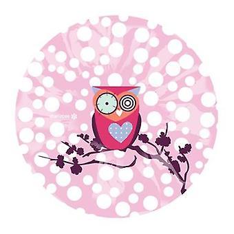 Süße rosa Eule leichte elastische Duschkappe