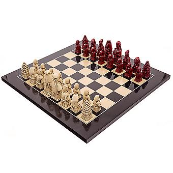The Berkeley Chess Egyptian Black Cardinal Chess Set