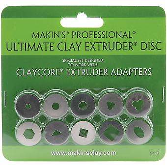 Makin's Professional Ultimate Clay Extruder Discs 10 Pkg Set C 35163