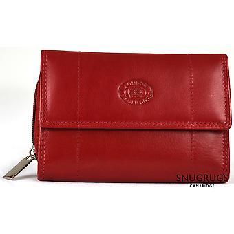 Nappa Leather Zip-Around Purse - Dark Red