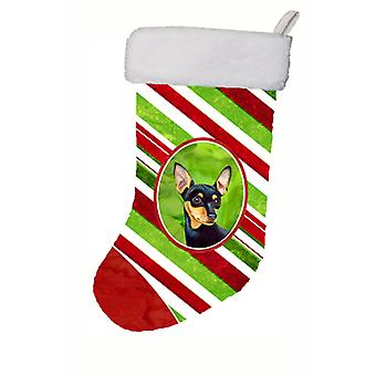 Min Pin Candy Cane Holiday Christmas Christmas Stocking LH9245