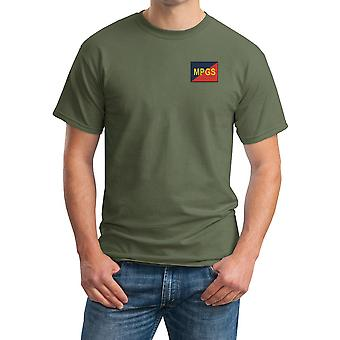 Military Provost Guard Embroidered TRF Logo - Official British Army Cotton T Shirt