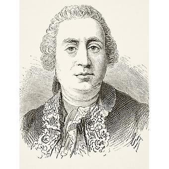David Hume 1711 To 1776 Scottish Historian And Philosopher From The National And Domestic History Of England By William Aubrey Published London Circa 1890 PosterPrint