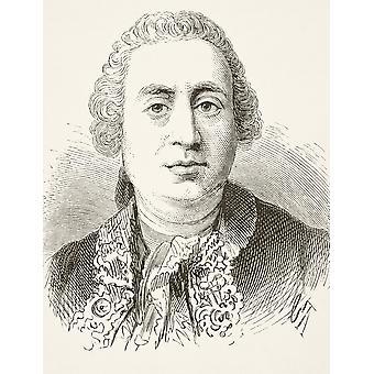 Дэвид Hume 1711 до 1776 шотландский историк и философ из национальной и внутренней истории Англии по Уильям Обри опубликовал Лондон около 1890 PosterPrint