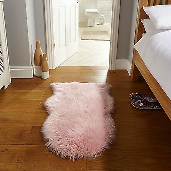 Faux Fur Rugs In Pink