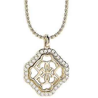 Guess ladies chain necklace stainless steel gold UBN21569