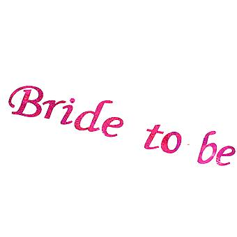 Hen Night Flashing �Bride To Be� White Sash With Pink Print Hen Party Accessory
