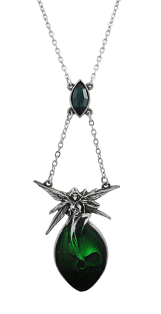 Alchemy Gothic Absinthe Fairy and Skull Necklace