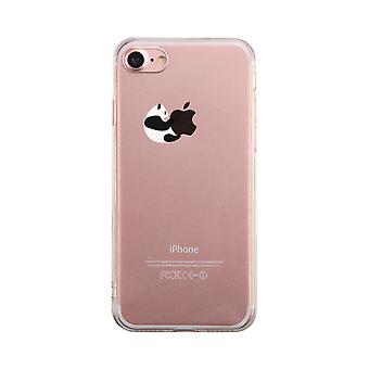 Panda umarmen Apple Transparent Telefon Fall niedlich klar Phonecase