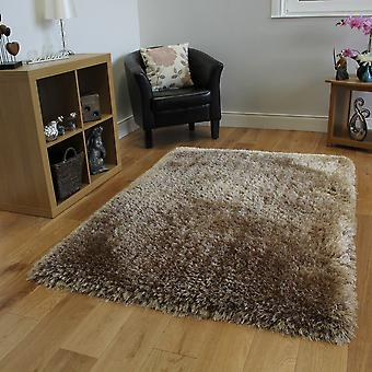 Cream Thick Shaggy Rug Glamour
