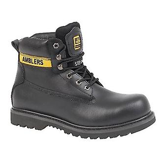 Amblers Steel FS9 Mens Toe Cap Safety Boots Textile Nubuck Rubber Welted Sole