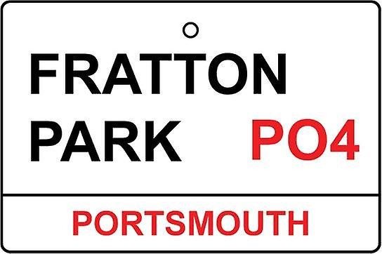 Portsmouth / Fratton Park Street Sign Car Air Freshener